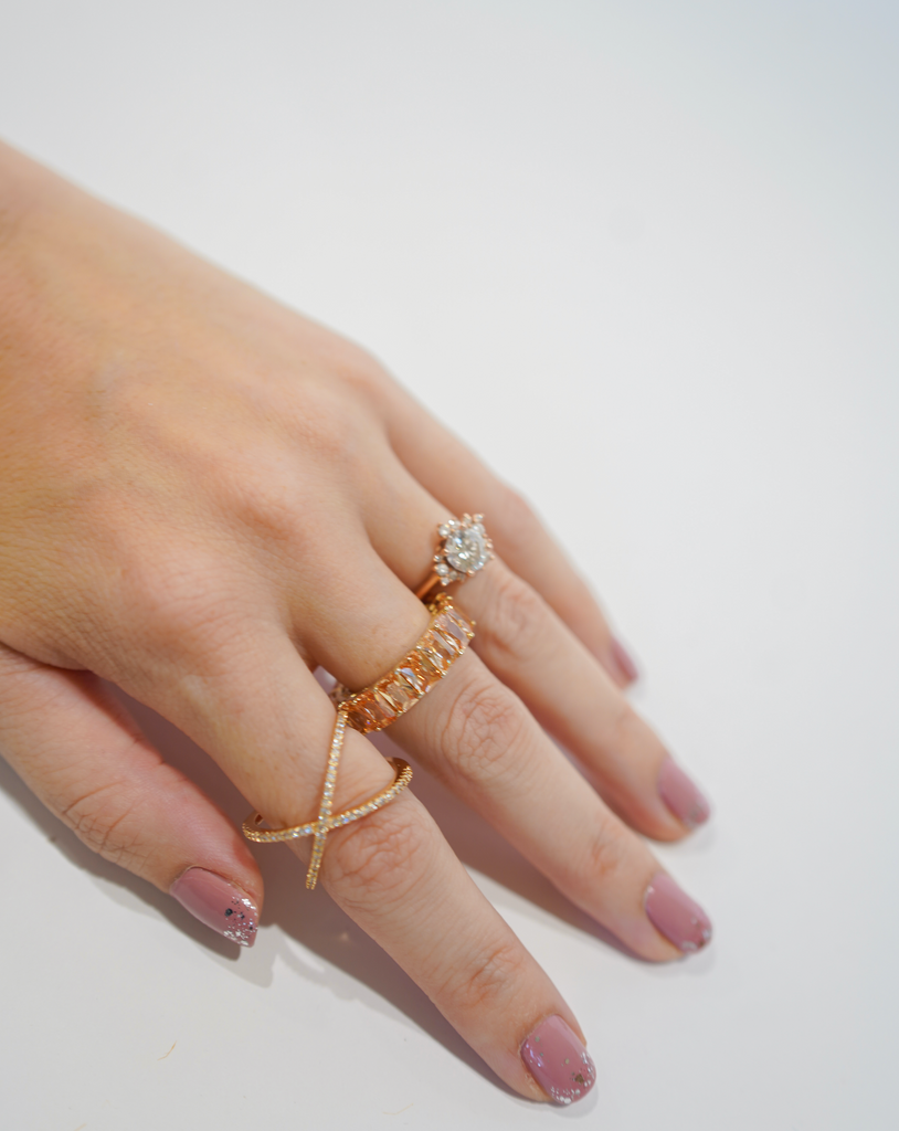 Champagne Baguette Ring