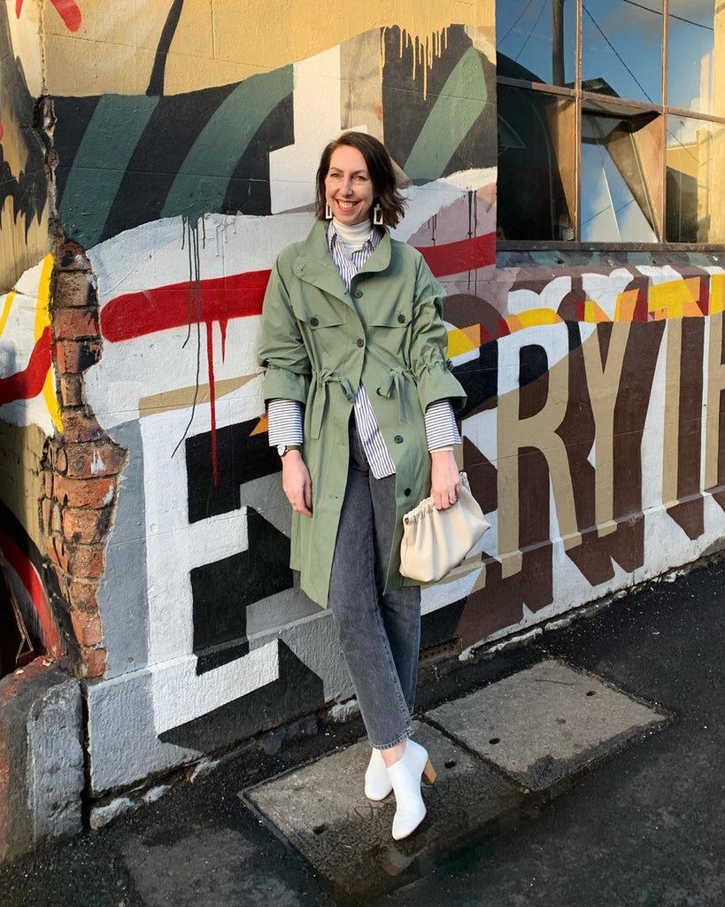 Melbourne stylist Sally Mackinnon josephine min trench coat coming soon prerelease mshem be your own muse australia australian sydney based fashion clothing womenswear brand