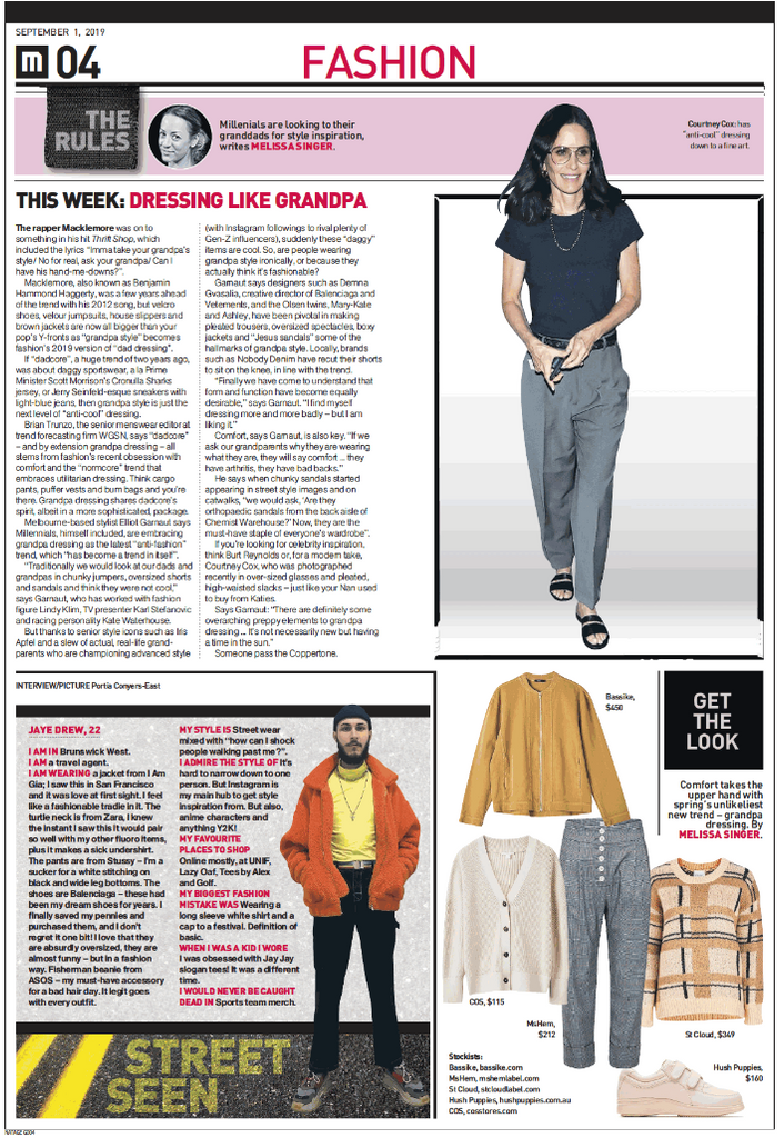 MsHEM Sydney Morning Herald The Age Millennials everywhere are dressing like their grandparents Elina High Rise Pants
