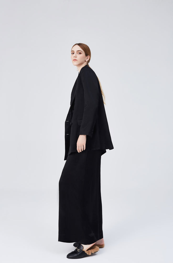 Stella Black Palazzo Pants - MsHEM women clothing