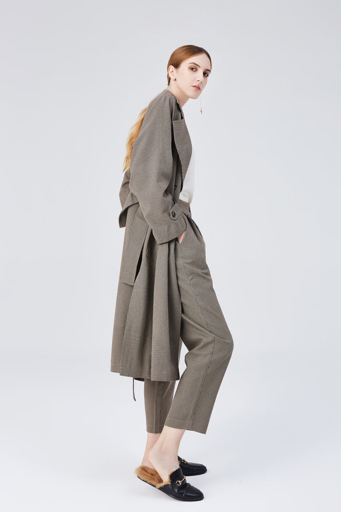 Blair Belted Trench Coat - Light Walnut - MsHEM women clothing