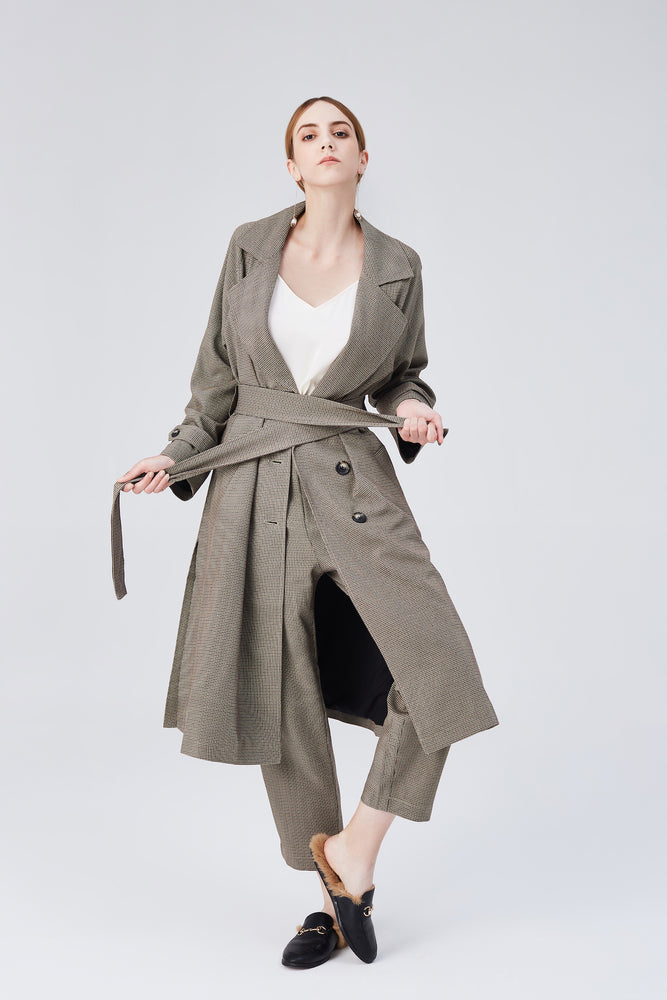 Blair Belted Trench Coat - Light Walnut