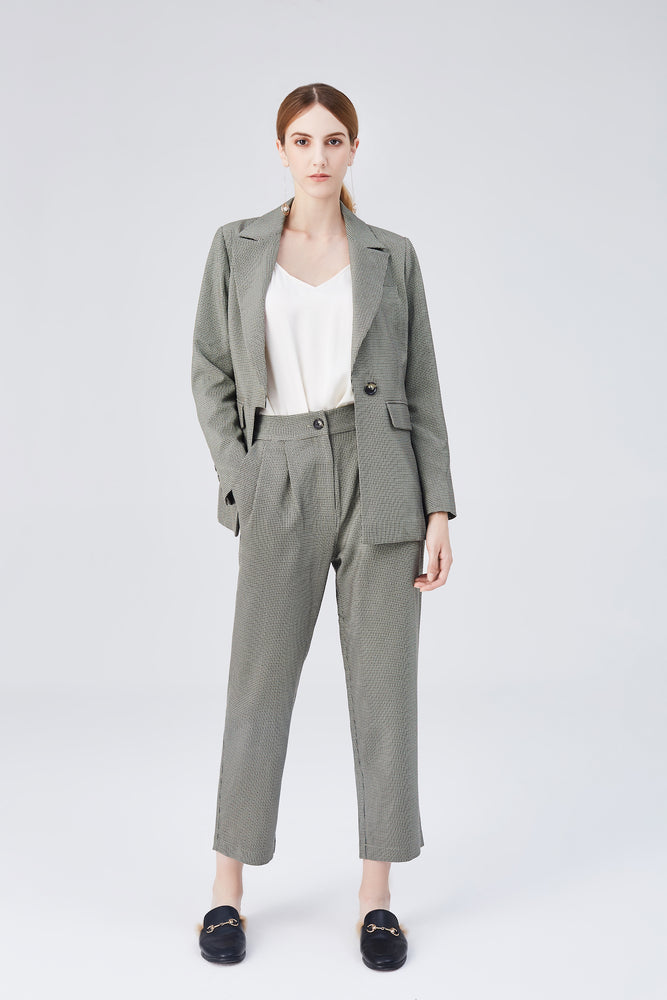 Blair High Rise Pants - Olive Green - MsHEM