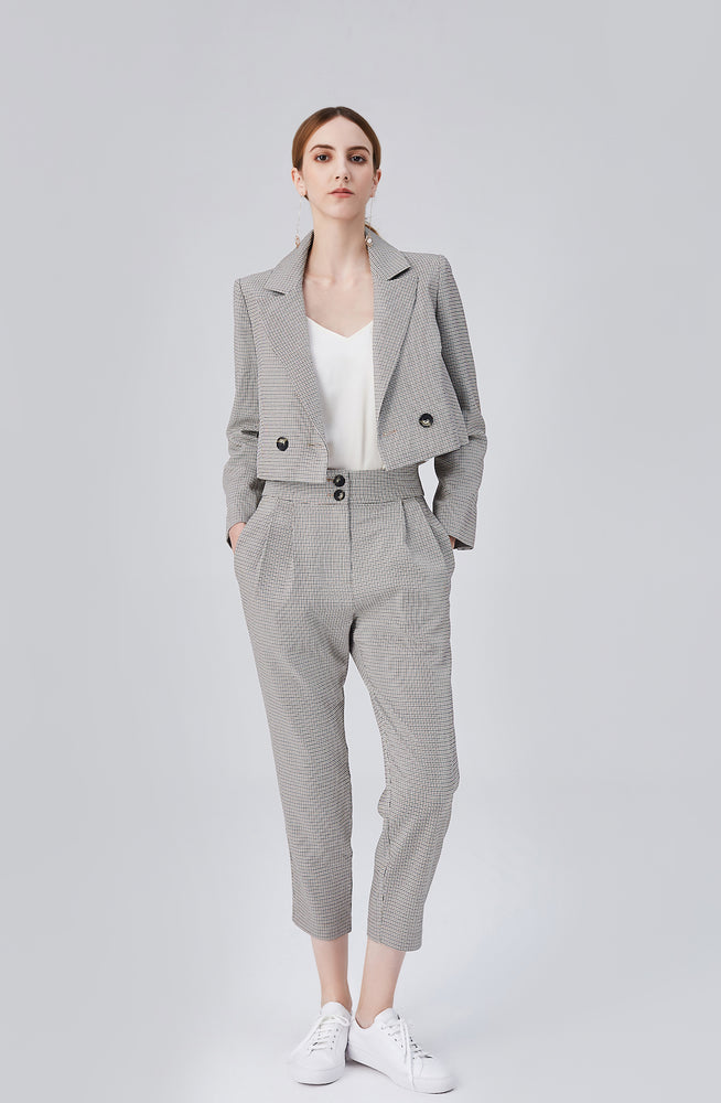 Blair High Rise Pants - Grey Sand