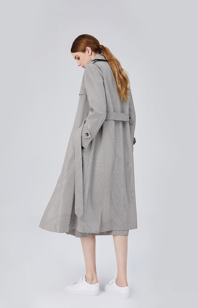 Blair Belted Trench Coat - Grey Sand - MsHEM women clothing