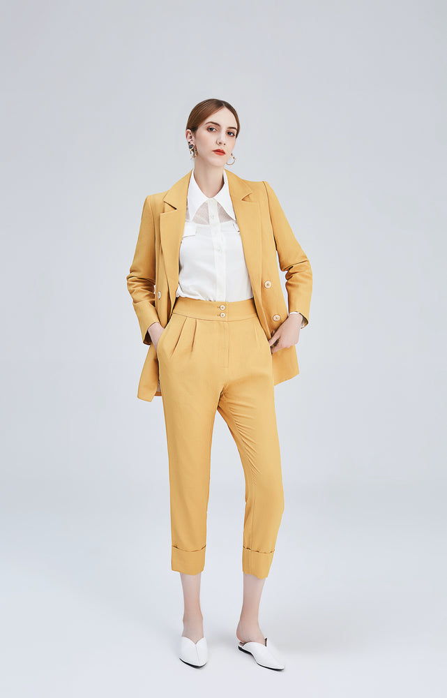 Mustard Genevieve High Rise Pants