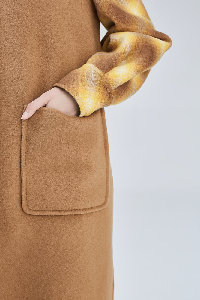 Audrey Camel Coat - MsHEM women clothing