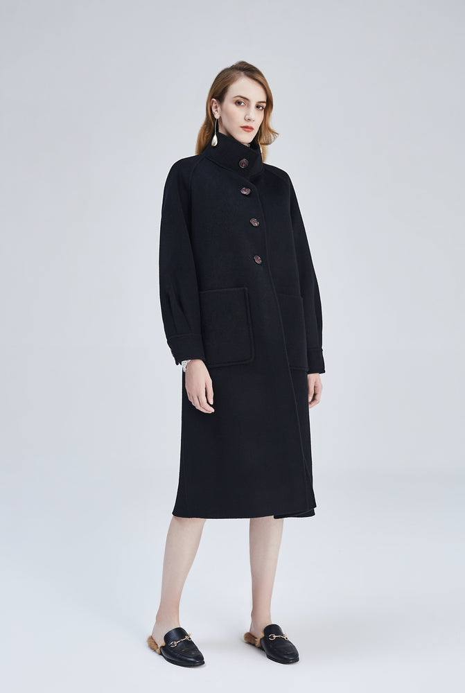 Audrey Black Coat - MsHEM women clothing