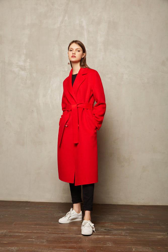 Red Full Length Coat