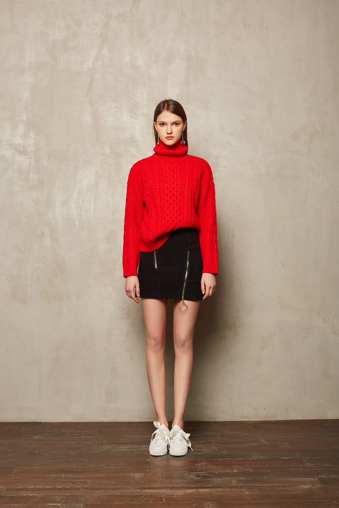 Red Knit Sweater