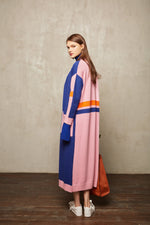 Colour Block Full Length Cardigan - MsHEM women clothing
