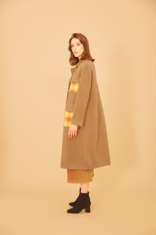 Charlie Camel Wool Coat - MsHEM women clothing