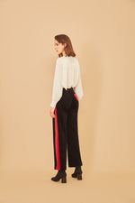 Black Corduroy Stripe Pants