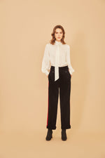 Black Corduroy Stripe Pants - MsHEM women clothing
