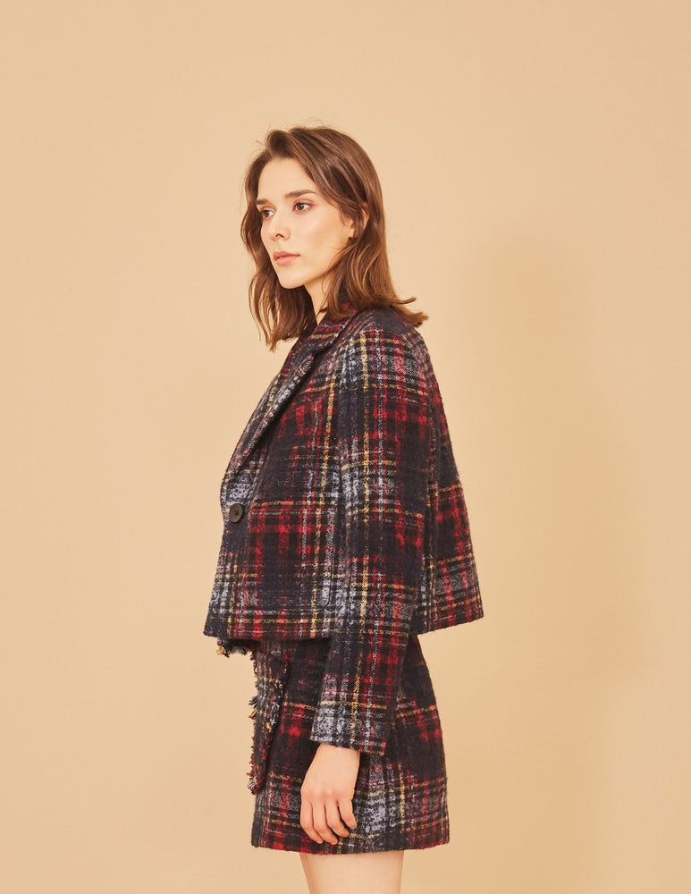 Tartan Tweed Skirt - MsHEM women clothing