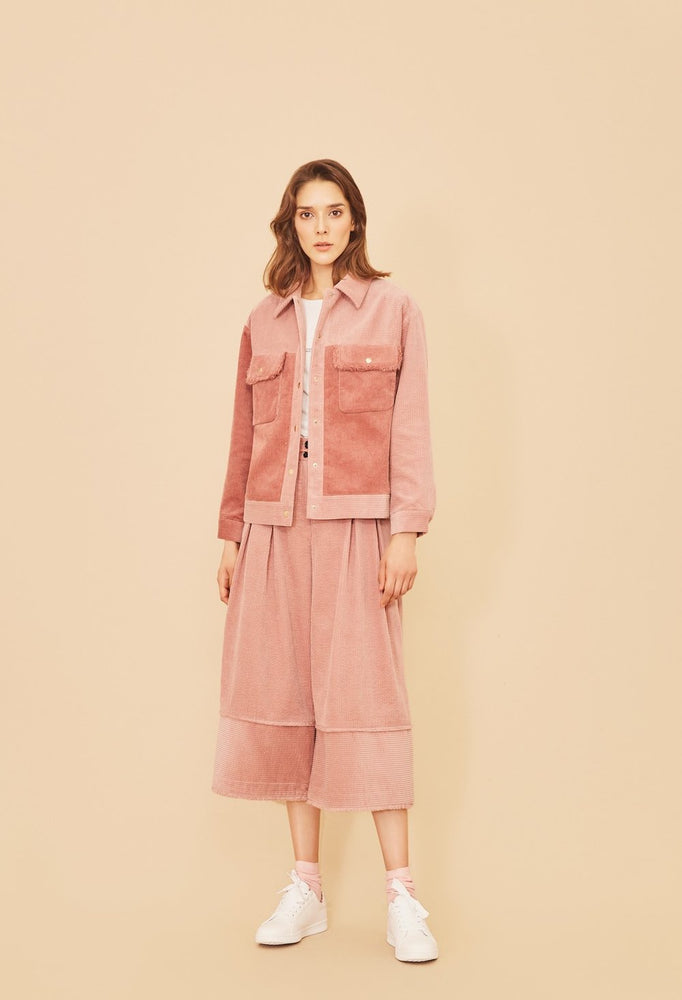 Pink Corduroy Jacket - MsHEM women clothing