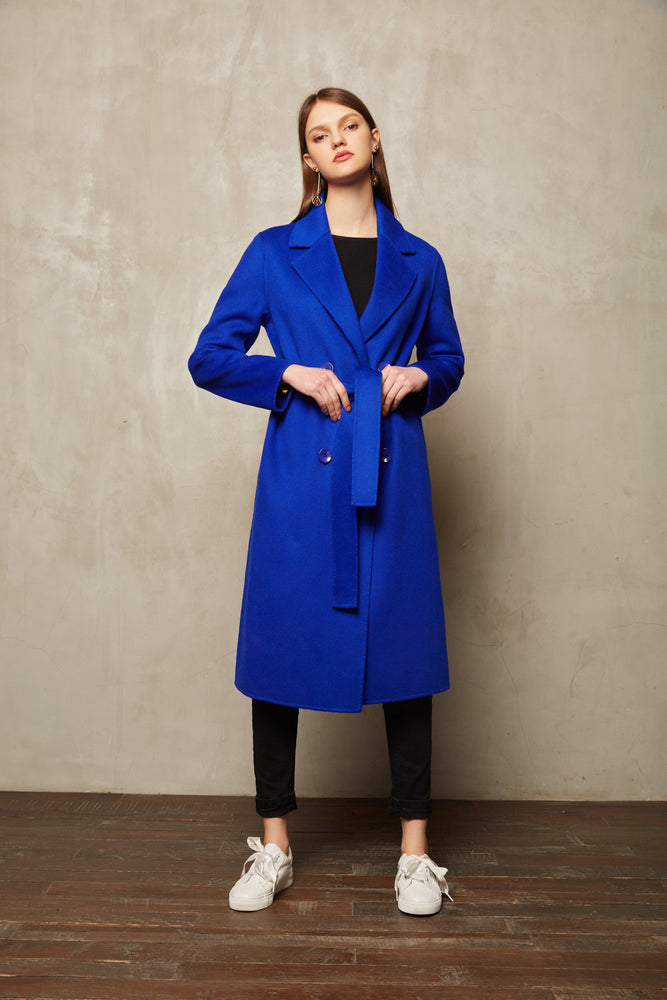 Blue Full Length Coat