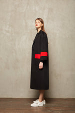 Red Stripe Full Length Coat - MsHEM