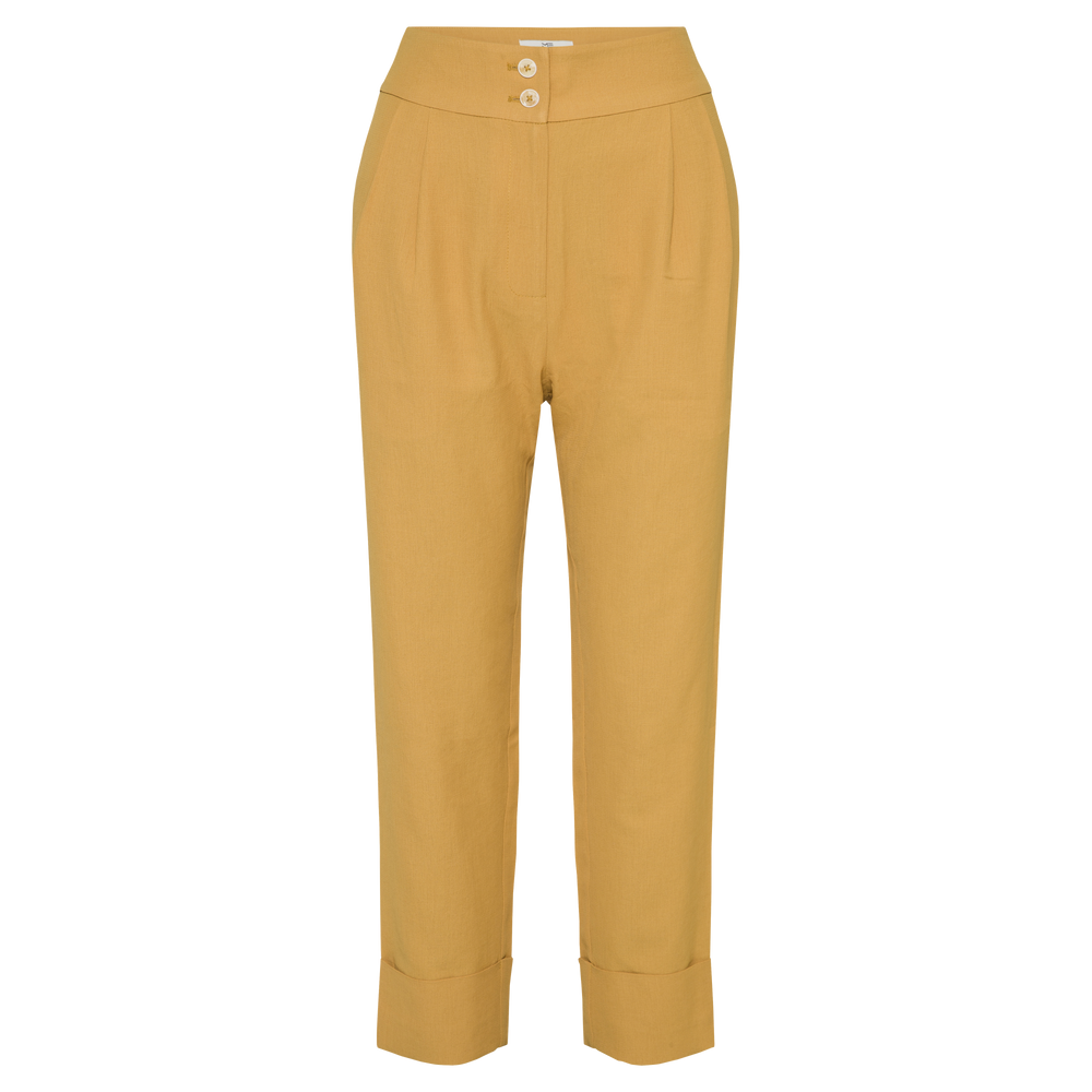 Mustard Genevieve High Rise Pants - MsHEM women clothing