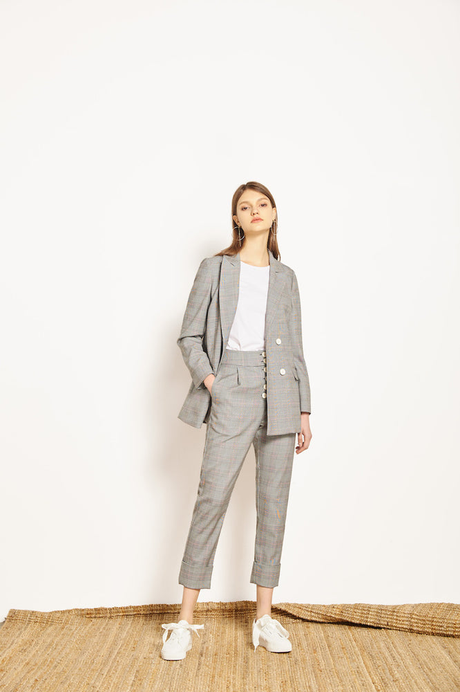 Elina Light Welsh Blazer - MsHEM women clothing