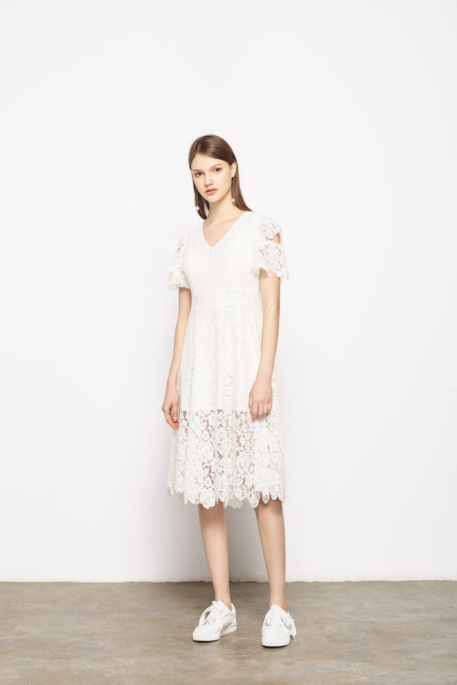 White Luna Dress