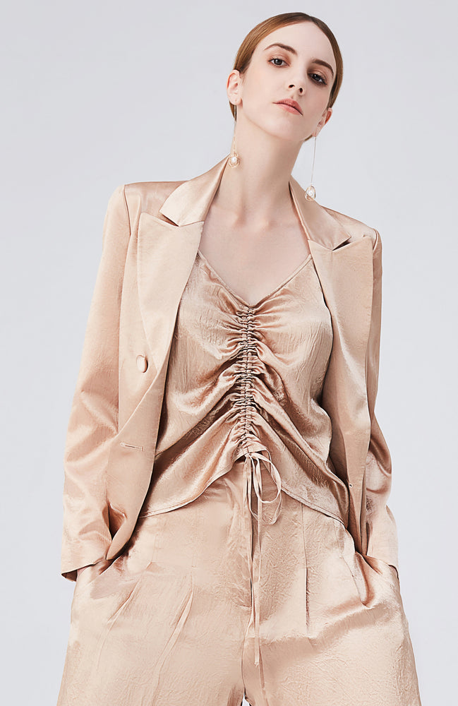 Stella Champagne Ruched Top
