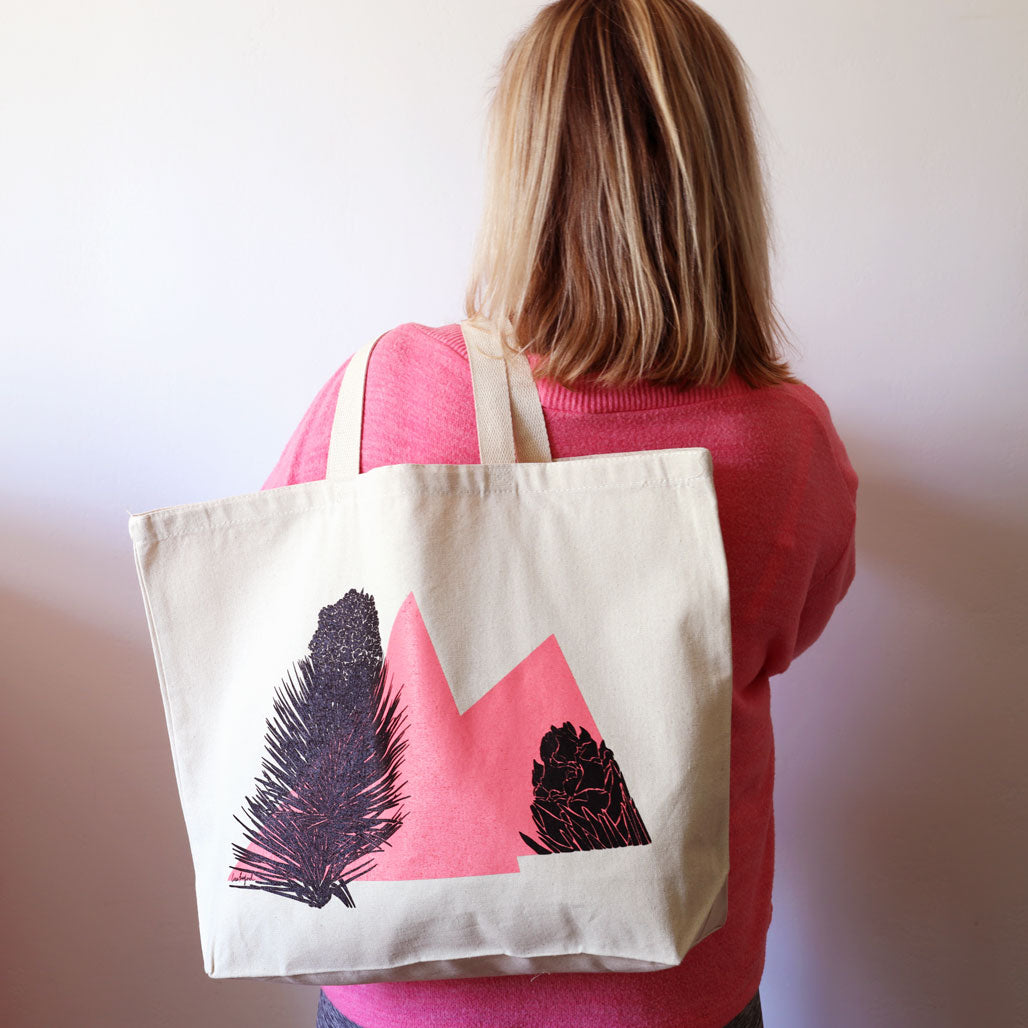 Joshua Tree Flower Panicles Tote hanging on hook