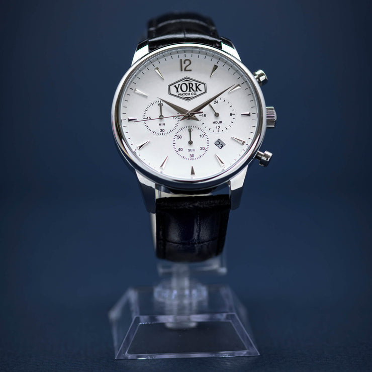 The Chrono Executive Silver & White
