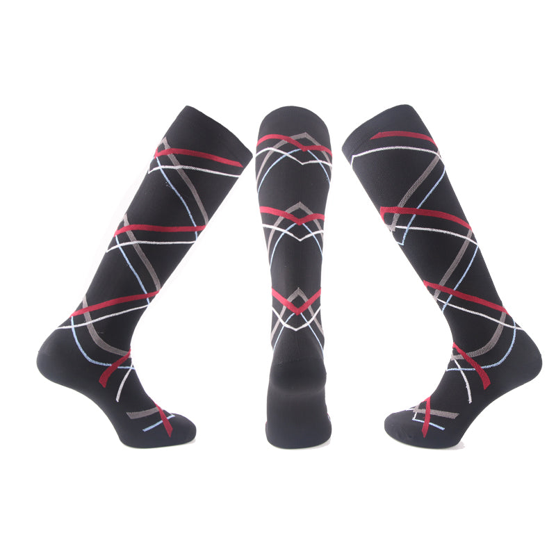 Red-Grey-White Compression Socks - Kit Carson Accessories