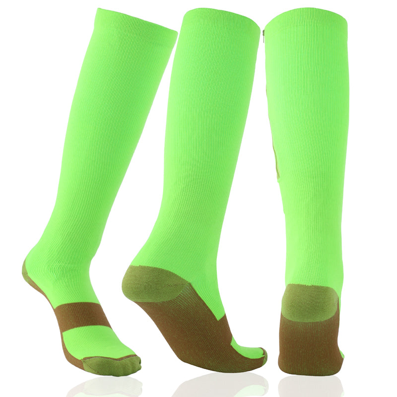 Unisex Zipper Compression Socks - Kit Carson Accessories