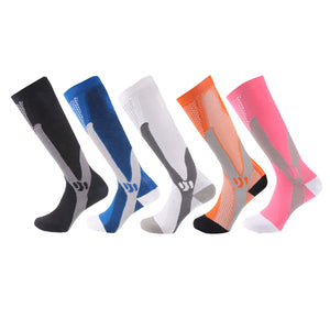 Bright Colors & Criss Cross Compression Socks - Kit Carson Accessories