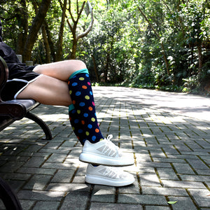 Multi-Colored Heart Compression Socks - Kit Carson Accessories
