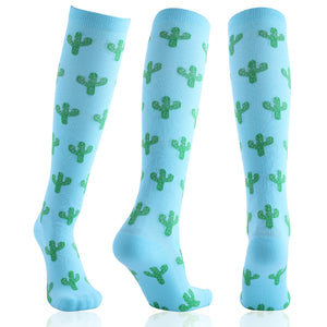 Turquoise Cactus Compression Socks - Kit Carson Accessories