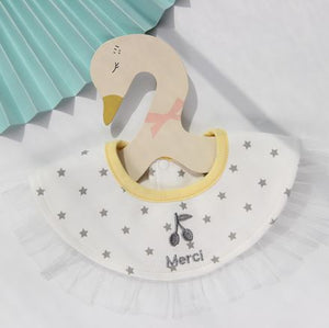 Baby Bib, Merci with Yellow collar - Kit Carson Accessories