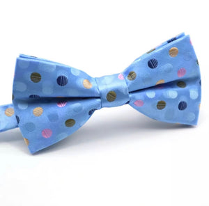 Blue Polka Dot Bow Tie - Kit Carson Accessories