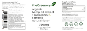 Organic Hemp Oil Extract + Melatonin Softgels