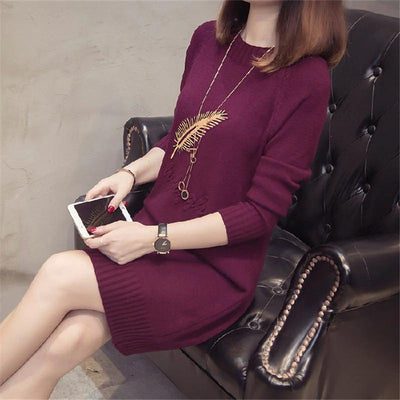 Casual Pullover Sweater Dress