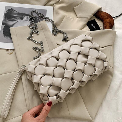 Versatile Patterned Luxury Leather Clutch