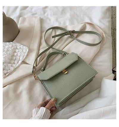 Luxury Stone Pattern Crossbody Leather Bag