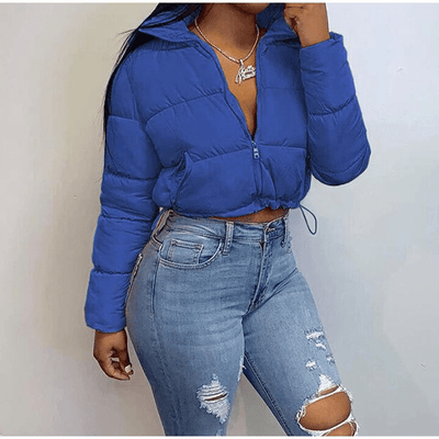 Cropped Puffer Jacket for Women