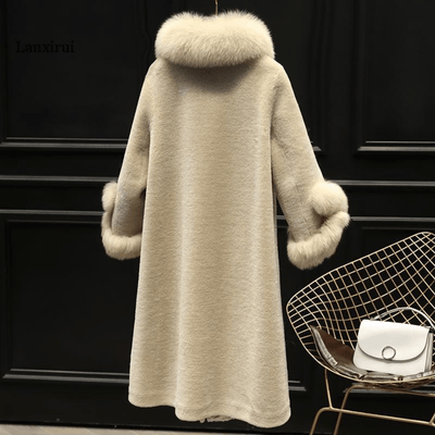 Pastel Shearling Overcoat