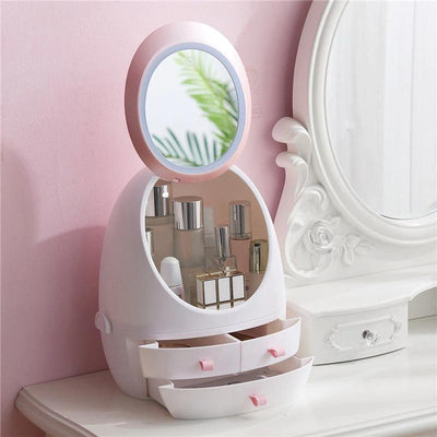 Marble Vanity Organizer With LED light