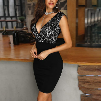 Flashy Backless Slip Nightclub Dress
