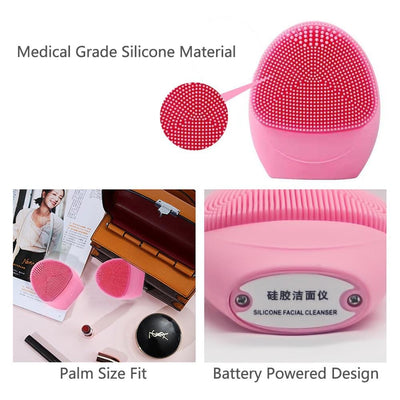 Sonic Vibrating Facial Cleansing Brush