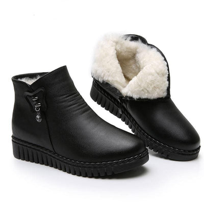 Warm Black Ankle Snow Boots