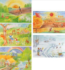 Seasonal Postcards, Set of 5