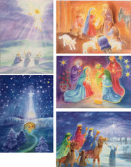 Advent and Christmas Season Postcards, Set of 9