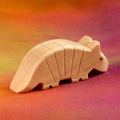 Wooden ARMADILLO, Handmade Toy Animal, Waldorf-Inspired