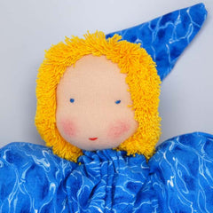 Waldorf Doll, Blue Clothing