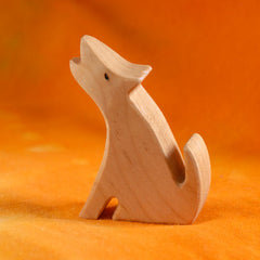 Wooden COYOTE, Handmade Toy Animal, Waldorf-Inspired